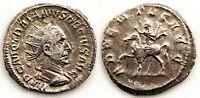 Imperio Romano-Tratajano Decio. Antoniano 250 d. C. Roma. Plata 2,8 g. ESCASA