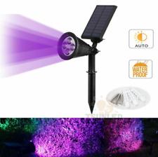 4LED Purple Solar Garden Spot Light Outdoor Lawn Landscape Spotlight Lighting