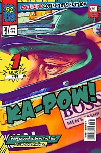 Ayrton Senna Comic Book Covers Art Print (Available In 4 Formats)
