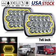 """2x 7x6"""" LED Headlight For Freightliner FL106 FL112 FL60 FL70 FL80 FS65 MT35 MT4"""