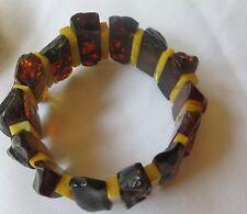 Antique Baltic Amber cuff bracelet/circumference 11ins,diameter 4ins/38gm
