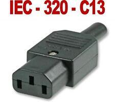 HIGH QUALITY 3 Pin Kettle Female Plug IEC Mains Connector C13 10A  UK