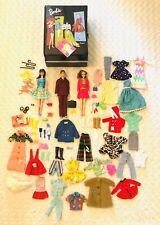 Huge Lot Of 1960s Barbie & Ken Dolls Clothes Shoes Accessories & Carry Case!
