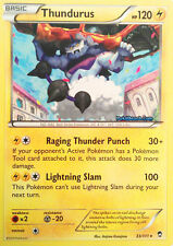 THUNDURUS 33/111 - XY FURIOUS FISTS POKEMON RARE CARD - IN STOCK NOW!