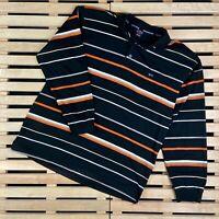 Mens Rugby Sweatshirt Paul Shark Vintage Striped Size XL