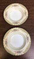 Two Porcelain Fine China Pink Rose Made in Occupied Japan soup bowls