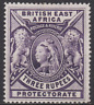 British East Africa 1897 Mint Mounted 3r Deep Violet sg94 Cat £180