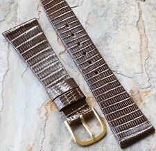 Rare Short vintage watch band Tourneau 20mm long scales Royal Lizard 1960/70 NOS