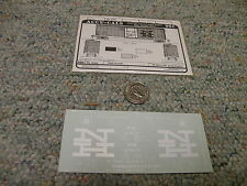 Accu-cals decals HO H4-B40b New Haven 50' box car cushioned     K36