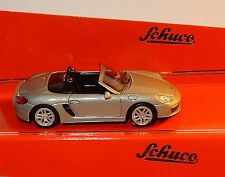 MICRO METAL DIE CAST SCHUCO 3 INCHES 1/64 PORSCHE BOXSTER S 981 GRISE IN BOX