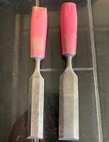 Set Of 2 X Vintage Titan Australia Bevel Edge Chisels, 32 mm & 25mm