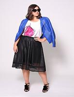 CHRISTIAN SIRIANO LANE BRYANT Perforated Circle Skirt 20 22 24 26 28 ~2x 3x 4x