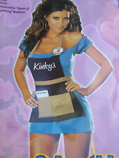 SEXY FANCY DRESS COSTUME WAITRESS : SIZE M : BRAND NEW IN PACKET