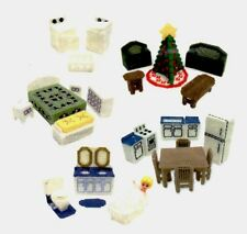 Mary Maxim Plastic Canvas Kit Christmas House Furniture 16666 Makes 29 Pieces
