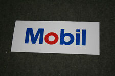 Mobil self-adhesive vinyl sticker for petrol bowser / pump