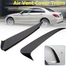 Carbon Fiber Style Canard Air Vent Spoiler Cover Trim For Benz C W205 C43 AMG