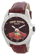 Tommy Bahama Relax Brown Dial Maroon Leather Strap Mens Watch RLX1192 A126