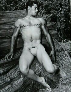 Unique Set of High Quality Male Nude Photographs, Traditional Darkroom Set 4x5