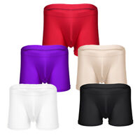 US Sexy Men Ice silk Boxer Briefs Pouch Underwear Shorts Trunks Underpants Thong
