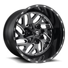 (4) 22x10 Fuel Black & Milled Triton Wheels 8x170 For 03-19 Ford F-250 F-350