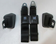 Black Chevelle Seat Belts 1964-72 GM A Body Retractable Black Seat Belt Pair