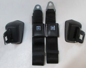 Black Chevelle Seat Belts 1964-72 GM A Body Retractable Black Seat Belt Pair