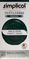 """Simplicol Textilfarbe intensiv all in 1 -Flüssige Rezeptur """"Wald-Grün"""" Neu!"""