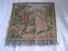 Vtg but New French Tapestry Pansu Floral Neo Classical Garden Dancers from 1800
