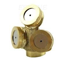 5x Adjustable Brass 3 Hole Spray Misting Nozzle Gardening Sprinklers Irrigation