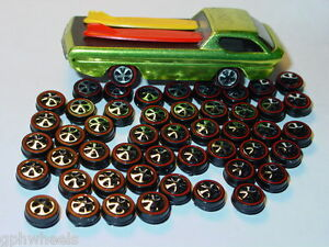 Hot Wheels Redline Red Line HK WHEEL TIRE Lot of 48 SMALL Bearing Style -NICE!