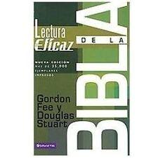 La Lectura eficaz de la Biblia by Gordon D. Fee (2007, Paperback, Revised,...
