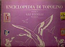 ALBUM FIGURINE ENCICLOPEDIA DI TOPOLINO-GLI UCCELLI - 4° VOLUME  - COMPLETO