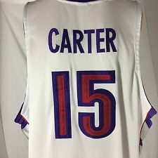 Nike Authentic Vince Carter Toronto Raptors Basketball Jersey SZ 60 NBA Pro Cut