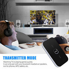 2in1 Wireless Bluetooth Transmitter Modulator Receiver Adapter AUX 3.5mm RCA US