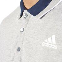 Adidas polo shirt sport essentials grey navy S 36/38 clima lite bnwt