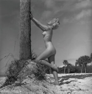 1960s Bunny Yeager Estate Unique Camera Negative Stunning Nude In Naples