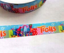 Trolls Movie grosgrain ribbon 25mm (2 meters) only 99p,for bows, crafts & cakes