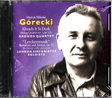 Gorecki: Already It Is Dusk -Kronos Quartet CD -John Constable (Van Kampen)