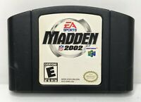 Nintendo 64 N64 Madden NFL 2002 Video Game Cartridge *Authentic/Cleaned/Tested*