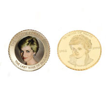Holiday 24k Gold Coin The Princess Diana 20th Metal Coin Christmas Gifts