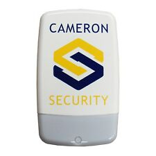 Dummy/Decoy Alarm Bell Box, white lens & screen printed security logo ( No LEDs)