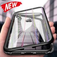 Für iPhone XS Max Case Magnet Hülle Rainbow Glas Adsorption Schutzhülle