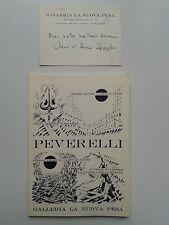 """"""" Cesare PEVERELLI """" Catalogue  Galleria La Nuova Pesa, 1968 + Carte SIGNéE"""
