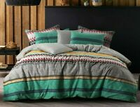 Single Double Queen King Super King Duvet Quilt Cover Set Cotton Reversible