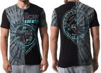 AMERICAN FIGHTER Men T-Shirt GALVESTON Athletic BLACK GREY TIE DYE Biker UFC $40