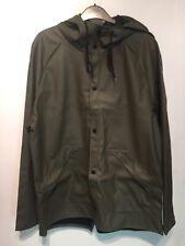 PVC  Wet look Jacket Coat L Rain Shiny  Mens Thick Coat New With Tags