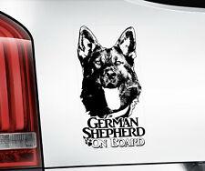 GERMAN SHEPHERD Sticker,  Alsatian GSD Dog Car Stickers Window Decal - V08B BLK