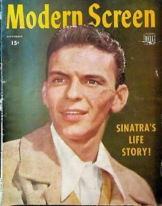 Modern Screen September 1944 Frank Sinatra Lena Horne Alan Ladd Janet Blair