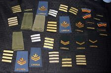 OLD VINTAGE MILITARY PATCH LOT ALL CANADIAN (33) NICE USED CONDITION