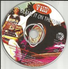 INDO G & LIL BLUNT  Blame It On The Funk 4TRX INSTRUMENTAL PROMO DJ CD single